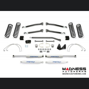 "Jeep Wrangler 3"" Trail II System w/ Performance Shocks by FABTECH - 2 Door JK (Short Arm)"