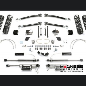 "Jeep Wrangler 5"" Long Travel Trail System w/ 2.25 Resi Dirt Logic Shocks by FABTECH - 2 Door JK (Short Arm)"