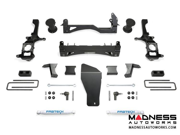 """Nissan Titan XD 6"""" Basic System w/ Stealth Rear Shocks by Fabtech (2016) 4WD"""
