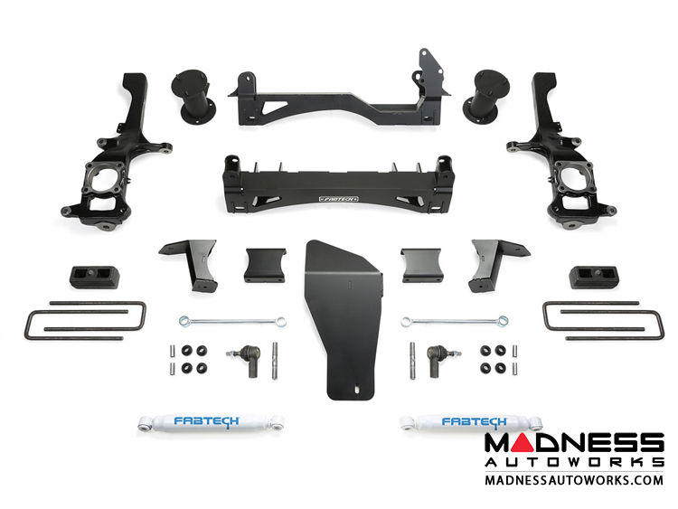 "Nissan Titan XD 6"" Basic System w/ Stealth Rear Shocks by Fabtech (2016) 4WD"