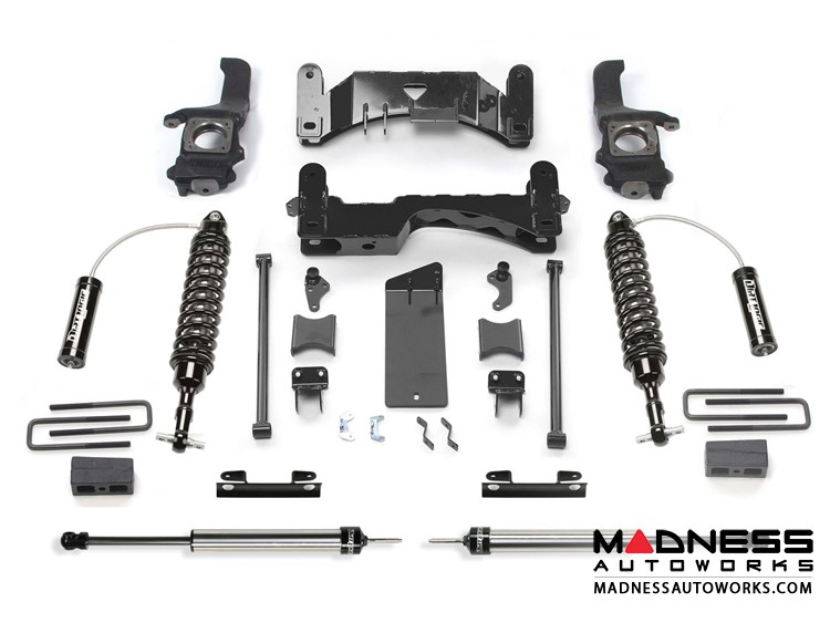 """Toyota Tundra 6"""" System w/ Front Dirt Logic 2.5 Coilover Resi & Rear Dirt Logic Shocks By Fabtech (2016 - 2017) 2WD/ 4WD"""