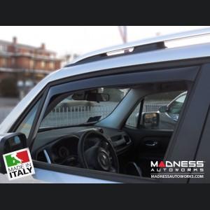Jeep Renegade Side Window Air Deflectors - Front/ Rear Set 4 Piece Set - Mini Deflector