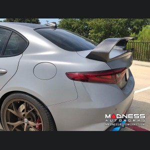 Alfa Romeo Giulia Trunk Spoiler - GTAm Style - 100% Carbon Fiber - Forged Carbon Weave