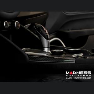 Alfa Romeo Giulia Center Console Trim Set - Carbon Fiber