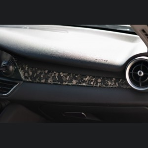 Alfa Romeo Giulia Dash Trim Kit - Forged Carbon Fiber - Feroce