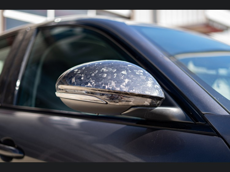 Alfa Romeo Giulia Mirror Covers - Forged Carbon Fiber w/ Factory Clips - Feroce