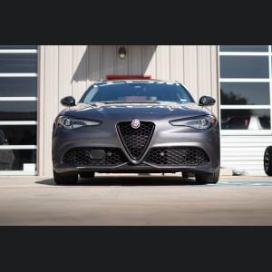 Alfa Romeo Giulia Front V Shield Grill Frame - Forged Carbon Fiber - Feroce