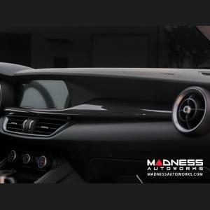 Alfa Romeo Stelvio Dash Trim Kit - Carbon Fiber