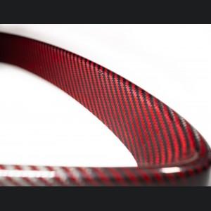 Alfa Romeo Stelvio Front V Shield Grill Frame - Carbon Fiber - Red - Feroce Carbon