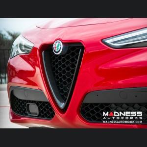 Alfa Romeo Stelvio Front V Shield Grill Frame - Carbon Fiber - Feroce Carbon