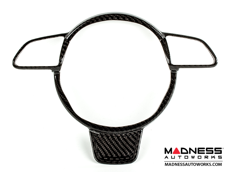 Audi A3/A4/A5 Steering Wheel Trim Cover - Carbon Fiber