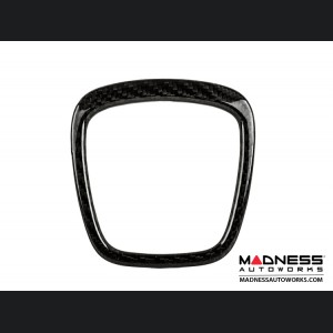 Audi Q7 Airbag Logo Trim Cover by Feroce - Carbon Fiber