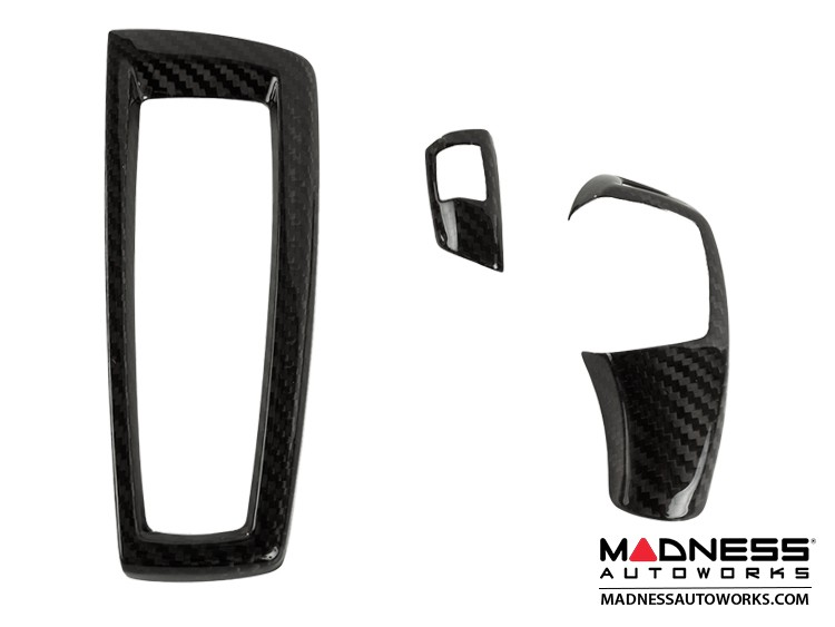 BMW Shift Knob and Gear Selector Switch Cover by Feroce - Carbon Fiber
