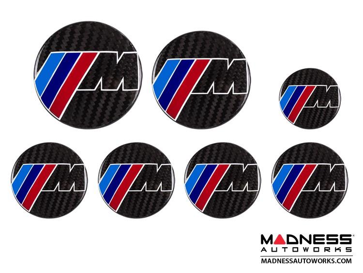 BMW M-Power Carbon Fiber Badge Cover Kit - Feroce