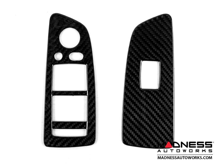 BMW E87 2003-2007 Window Switch Cover by Feroce - Carbon Fiber