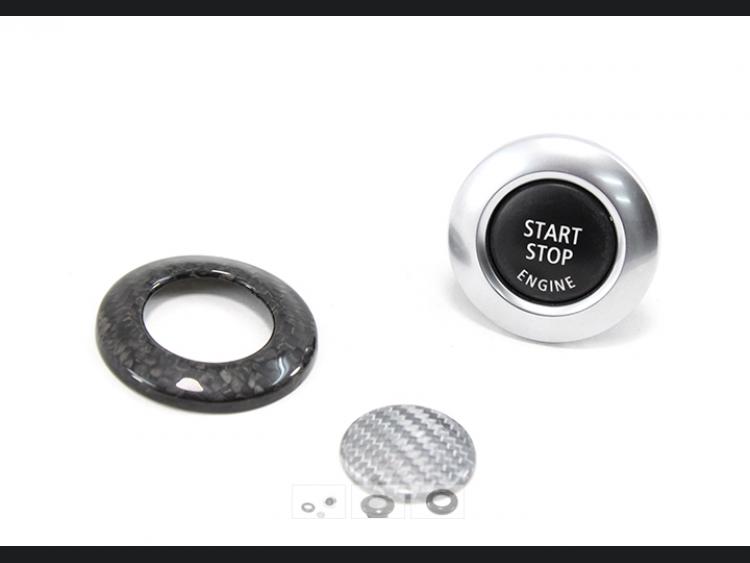 BMW E81/ E82/ E87/ E88 1 Series Start/Stop Button Cover by Feroce - Carbon Fiber