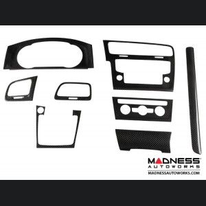 Volkswagen Golf VII - Interior Console Trim Kit by Feroce - Carbon Fiber
