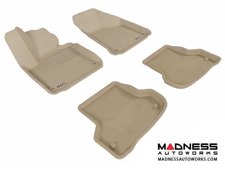 Audi A3 Floor Mats (Set of 4) - Tan by 3D MAXpider (2006-2013)