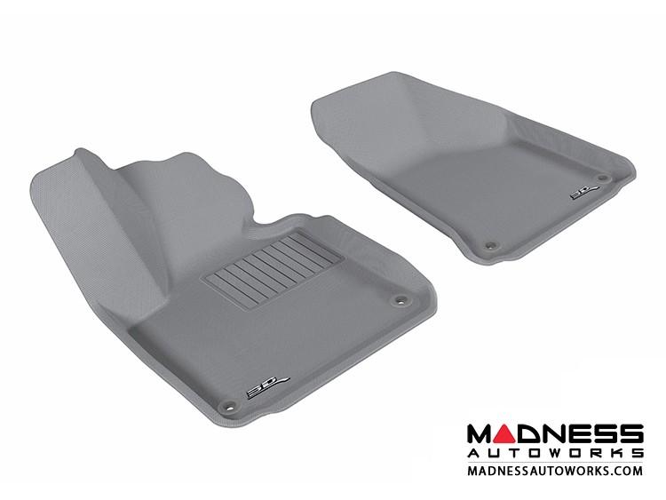 Audi A3 Floor Mats (Set of 2) - Front - Gray by 3D MAXpider (2006-2013)