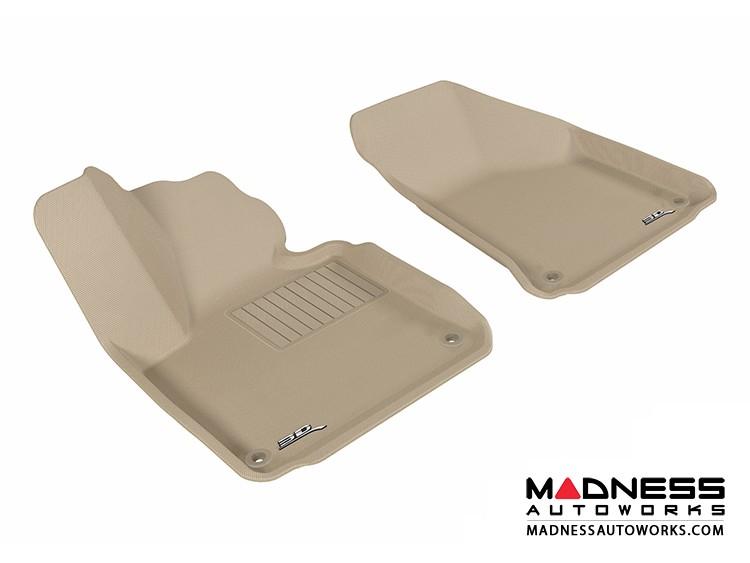 Audi A3 Floor Mats (Set of 2) - Front - Tan by 3D MAXpider (2006-2013)