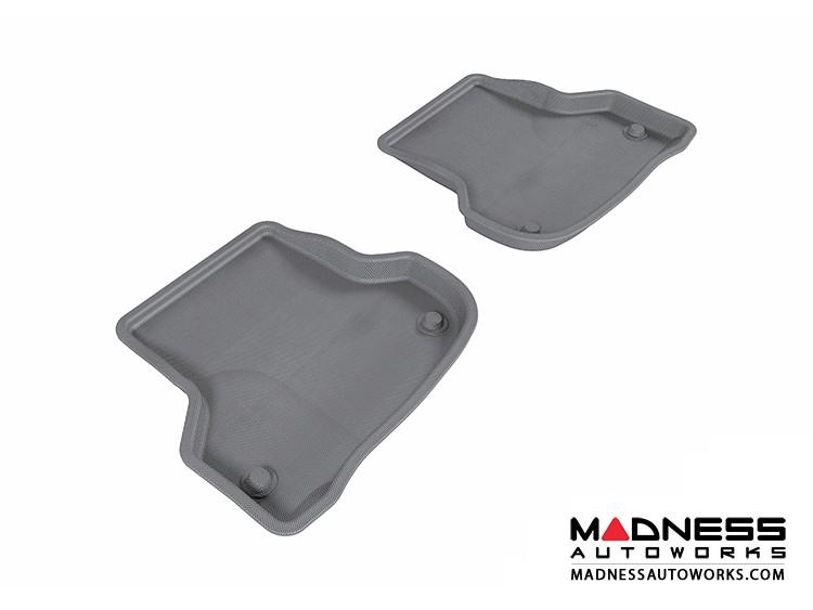 Audi A3 Floor Mats (Set of 2) - Rear - Gray by 3D MAXpider (2006-2013)