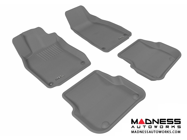 Audi A6/ S6/ RS6 Floor Mats (Set of 4) - Gray by 3D MAXpider (2005-2011)