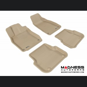 Audi A6/ S6/ RS6 Floor Mats (Set of 4) - Tan by 3D MAXpider (2005-2011)