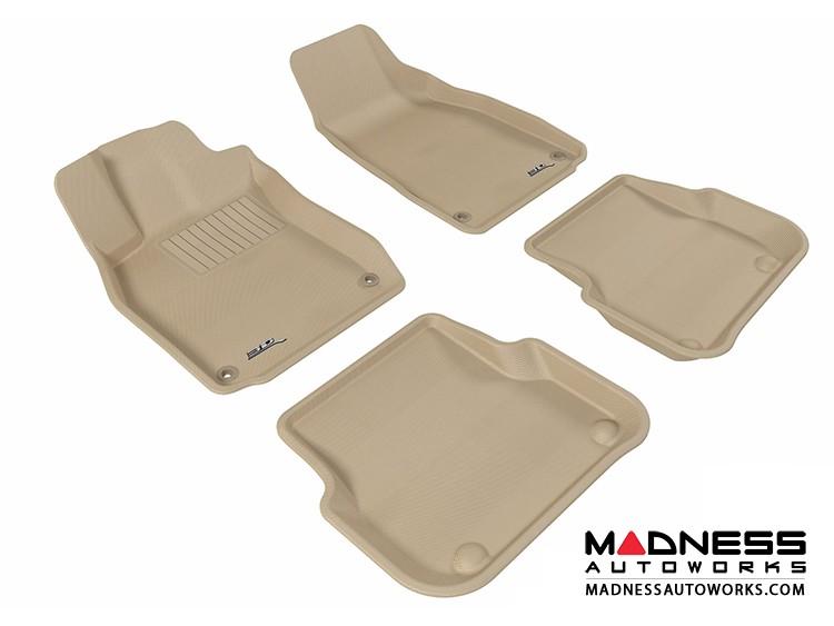 Audi A6/ S6/ RS6 Floor Mats (Set of 4) - Tan by 3D MAXpider (2005-2011)