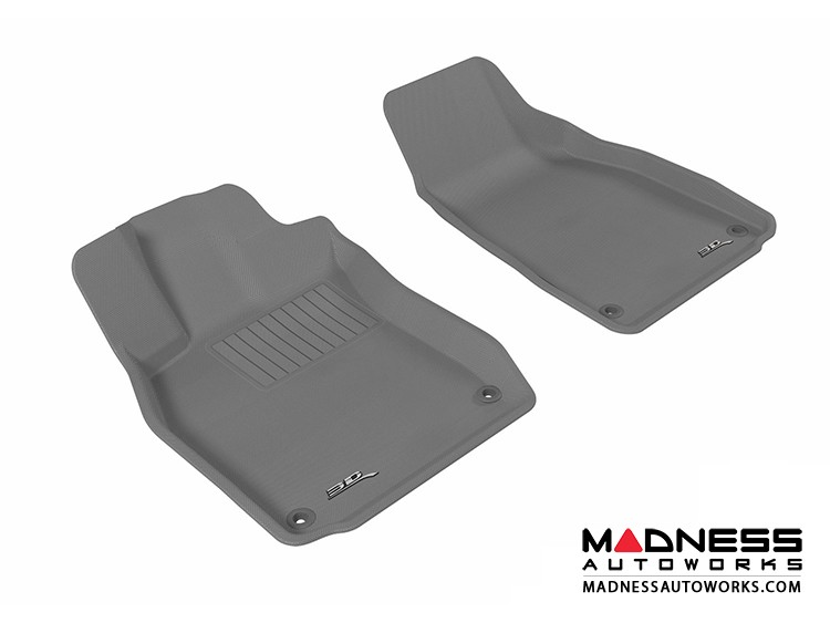 Audi A6/ S6/ RS6 Floor Mats (Set of 2) - Front - Gray by 3D MAXpider (2005-2011)