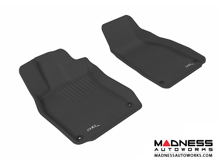 Audi A6/ S6/ RS6 Floor Mats (Set of 2) - Front - Black by 3D MAXpider (2005-2011)