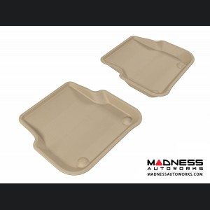 Audi A6/ S6/ RS6 Floor Mats (Set of 2) - Rear - Tan by 3D MAXpider (2005-2011)