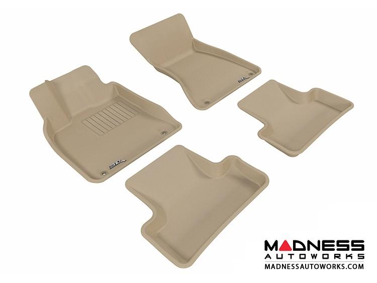 Audi Q5 Floor Mats (Set of 4) - Tan by 3D MAXpider (2009-2015)