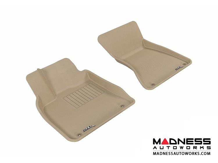 Audi Q5 Floor Mats (Set of 2) - Front - Tan by 3D MAXpider (2009-2015)