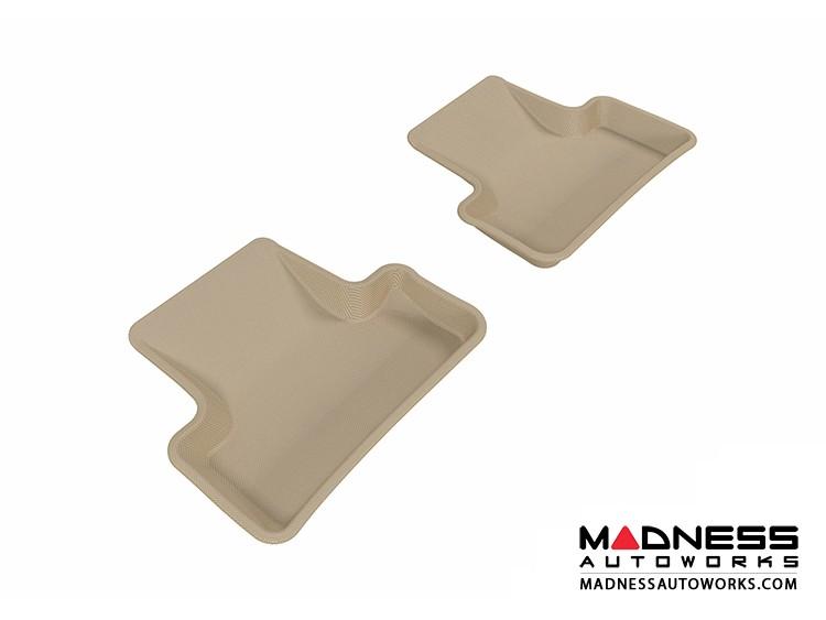 Audi Q5 Floor Mats (Set of 2) - Rear - Tan by 3D MAXpider (2009-2015)
