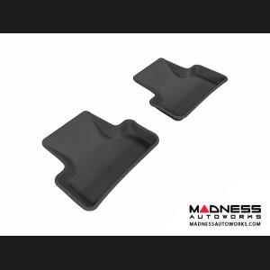 Audi Q5 Floor Mats (Set of 2) - Rear - Black by 3D MAXpider (2009-2015)