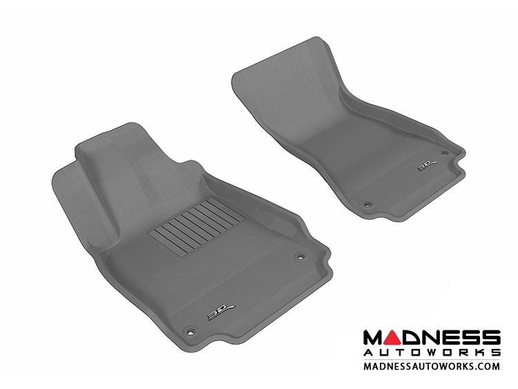 Audi A6/ S6/ A7 Floor Mats (Set of 2) - Front - Gray by 3D MAXpider (2012-)