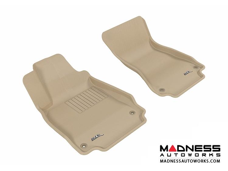 Audi A6/ S6/ A7 Floor Mats (Set of 2) - Front - Tan by 3D MAXpider (2012-)