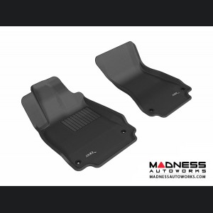 Audi A6/ S6/ A7 Floor Mats (Set of 2) - Front - Black by 3D MAXpider (2012-)