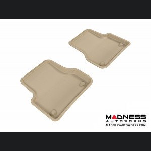 Audi A6/ S6/ A7 Floor Mats (Set of 2) - Rear - Tan by 3D MAXpider (2012-)