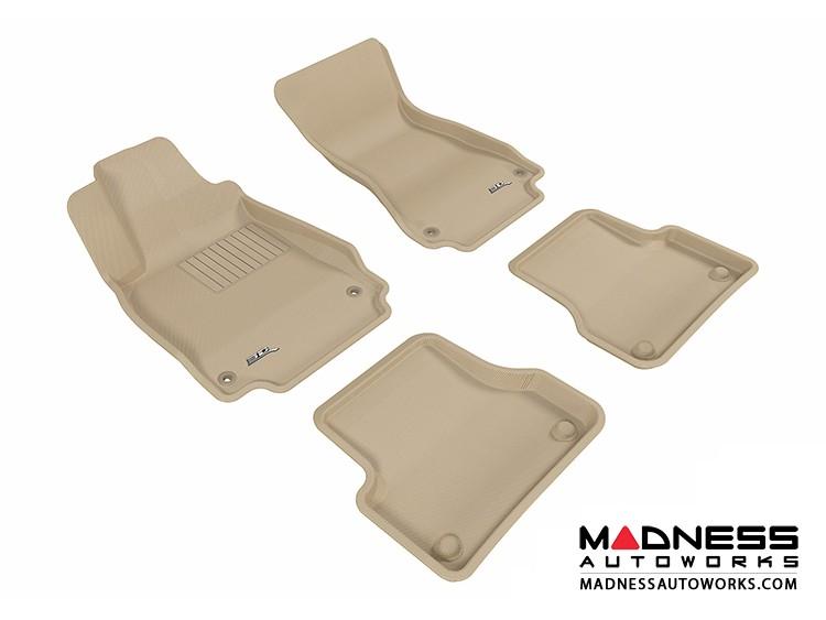 Audi A7 Floor Mats (Set of 4) - Tan by 3D MAXpider (2012-)