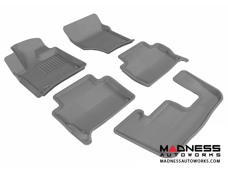 Audi Q7 Floor Mats (Set of 5) - Gray by 3D MAXpider (2007-2015)
