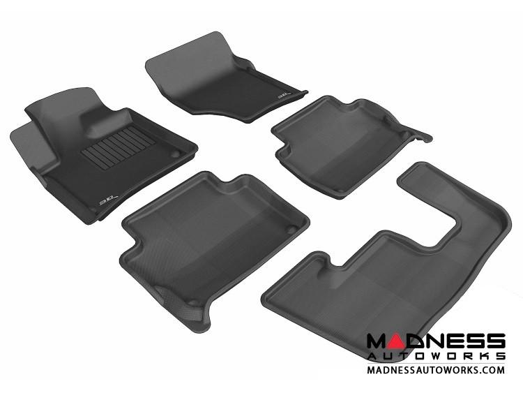 Audi Q7 Floor Mats (Set of 5) - Black by 3D MAXpider (2007-2015)