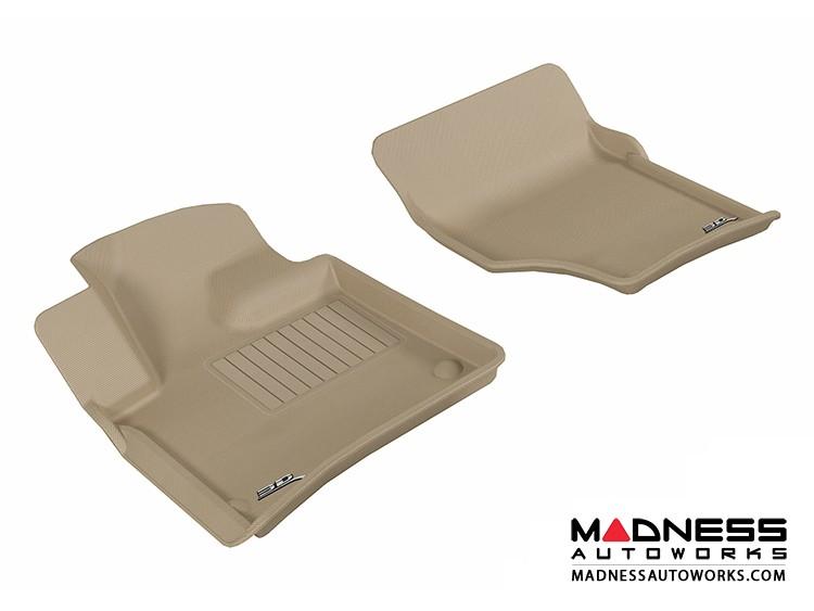 Audi Q7 Floor Mats (Set of 2) - Front - Tan by 3D MAXpider (2007-2015)