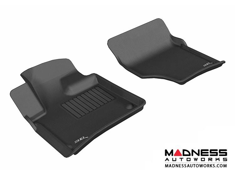 Audi Q7 Floor Mats (Set of 2) - Front - Black by 3D MAXpider (2007-2015)