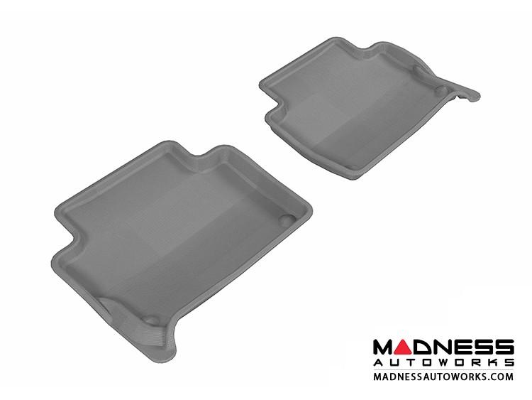 Audi Q7 Floor Mats (Set of 2) - Rear - Gray by 3D MAXpider (2007-2015)