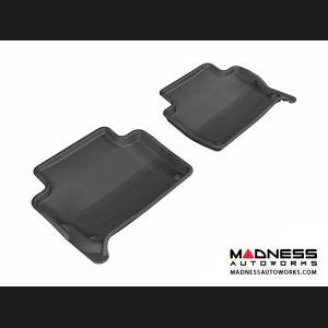 Audi Q7 Floor Mats (Set of 2) - Rear - Black by 3D MAXpider (2007-2015)