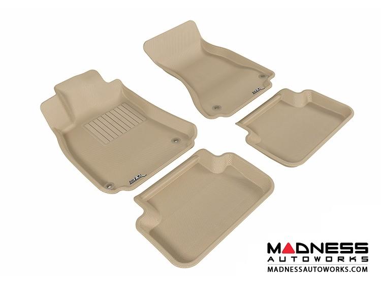Audi A4/ S4/ RS4 Floor Mats (Set of 4) - Tan by 3D MAXpider (2009-2015)