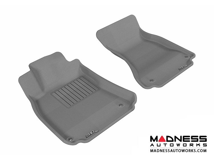 Audi A4/ S4/ RS4/ A5/ S5 Floor Mats (Set of 2) - Front - Gray by 3D MAXpider (2009-2015)