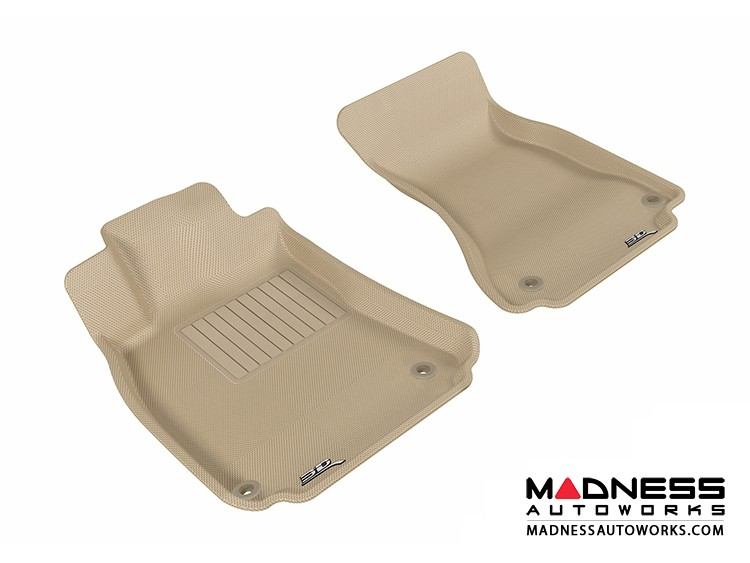 Audi A4/ S4/ RS4/ A5/ S5 Floor Mats (Set of 2) - Front - Tan by 3D MAXpider (2009-2015)