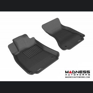 Audi A4/ S4/ RS4/ A5/ S5 Floor Mats (Set of 2) - Front - Black by 3D MAXpider (2009-2015)